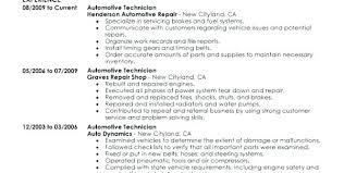 Automotive Technician Resume Cool Automotive Technician Resume No Experience Mechanic Template Career
