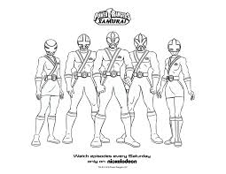 Power Rangers Coloring Pages To Print Power Rangers Samurai