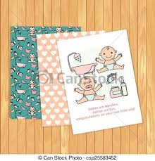 baby congratulations cards baby congratulations cards vector on wood background place for