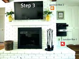 mount tv brick fireplace hide wires mounting over interior living room fire place install mounted above