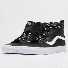 sneakers vans sk8 hi reissue otw webbing black leather vn0a2xsbukm1 queens