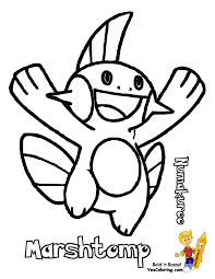 Pokemon Coloring Pages Printable Mudkip Google