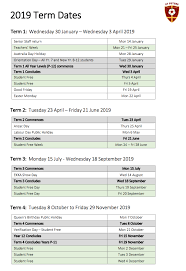 2019 Term Dates | St Peters Lutheran College