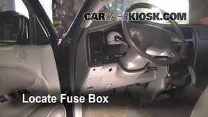 interior fuse box location 1995 2004 toyota tacoma 2003 toyota locate interior fuse box and remove cover