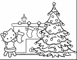 Small Picture marvelous hello kitty christmas coloring pages with christmas tree