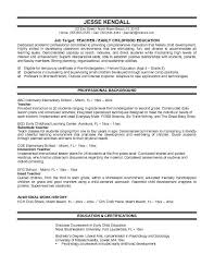 Outstanding Resume Examples For Teachers