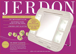 amazon jerdon j1015 led lighted makeup mirror with 5x magnification white finish beauty