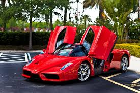 ferrari enzo with open doors