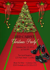 Christmas Holiday Invitations Red Carpet Christmas Invitation Christmas Holiday Invitations