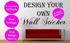 personalised wall sticker custom vinyl decal design your own quote wall art uk on design your own wall art stickers uk with design your own wall quote ebay