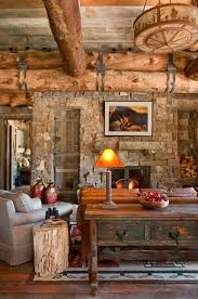 Log Cabin Living Room Mesmerizing 48 Rustic Country Cabins With A Stone Fireplace For A Romantic Get Away