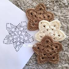 Crochet Star Pattern Free Interesting Free Charted Star Pattern Amalsh Thanks So Xox Uk
