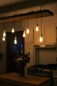 Image Rustic Finished Fixture Unmaintained Diy Reclaimed Lumber Hanging Edison Bulb Chandelier Unmaintained