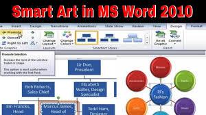 Smart Art Design Word How To Create Smart Art In Microsoft Word 2010 Hd