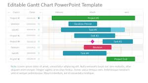 Gantt Chart Ppt Download Project Gantt Chart Powerpoint Template