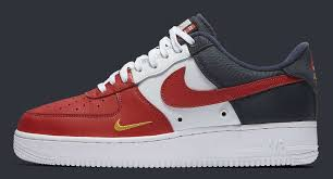 nike shoes air force red. nike air force 1 low mini swoosh usa release date profile 823511-601 shoes red