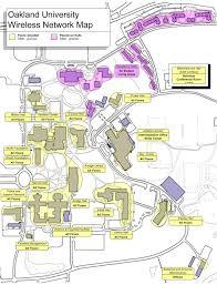wireless network map  oakland university