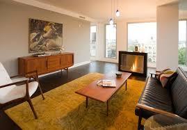 danish mid century living room