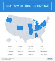 graphic of state with local ine tax