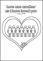 If you have every week, thousands of churches use our bible lessons, craft ideas, printable resources, and coloring pages to teach kids the christian faith. Free Printable Christian Bible Colouring Pages For Kids Love One Another As I Have Loved Sunday School Kids Printable Activities For Kids Christian Printables