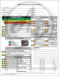 inspection sheet multi point vehicle inspection forms toyota honda ford gm chrysler