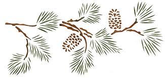 Stencil Walltowallstencils Pine Bough
