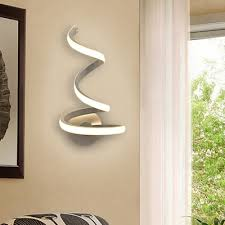 decorative modern curved led wall light