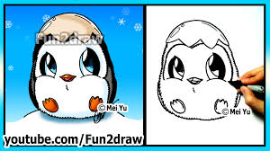 baby penguin drawing. Unique Baby YouTube Premium Inside Baby Penguin Drawing E