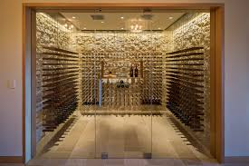 glass wine cellar design contemporary with custom within doors plan 46