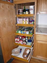 ... Kitchen Furniture Unique Brown Wooden Kitchen Pantry Cabinet Pull Out  Shelf Storage Sliding Shelves ...