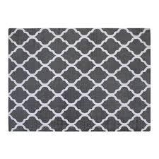 black and white geometric rug. chesapeake cotton printed grey and white quatrefoil geometric rug \u0026 reviews | wayfair black r