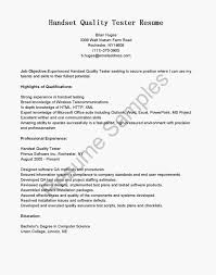 Sample Resume For Manual Testing manual qa tester cv sample manual testing resume sample for 58