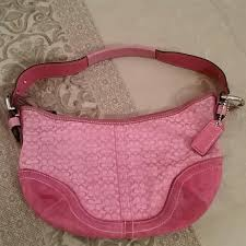 Pink small Coach purse