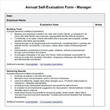 Restaurant Manager Review Forms Employee Annual Performance Review Template Yearly Evaluation Goals