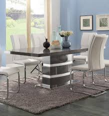 High Gloss Dining Table Lowry High Gloss Taupe Metal Chrome Dining Table