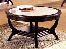 review round marble coffee table