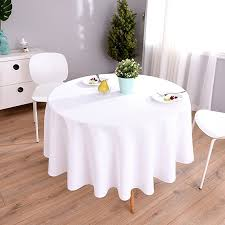 highfly linen round tablecloth 60 inch waterproof and stain resistant white table cloth for dining room