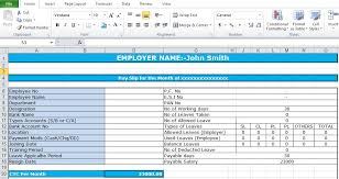 Salary Chart In Excel Format Salary Slip Format In Excel Free Download Excel Tmp