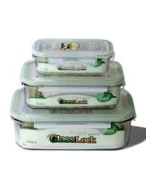 Glass Food Storage Containers With Locking Lids Beauteous Kinetic Glass Lock 32 Rectangular Glass FoodStorage Containers