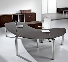 curved office desks. Architecture: Desk Furniture Glass Office L Shaped Computer With Hutch Throughout Curved Desks
