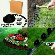 black flower bed garden landscape edging border trim plastic board