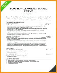 Resumes For Food Servers Food Server Cover Letter Food Service