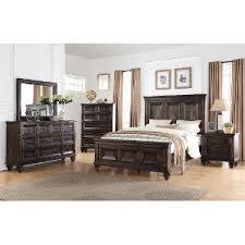 Classic Traditional Walnut Brown 6Piece King Bedroom Set  Sevilla