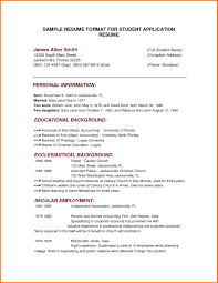Example Resume Styles New Examples Of Resumes 7 Best Professional