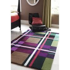 tartan macbeth 03 purple green rug 120 x 170 cm 4 x 5