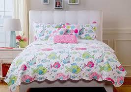 Cynthia Rowley 5pc Rainbow Tropical Fish Aqua Pink Green Quilt ... & Cynthia Rowley 5pc Rainbow Tropical Fish Aqua Pink Green Quilt Pillows Set  (Queen) Cynthia Adamdwight.com