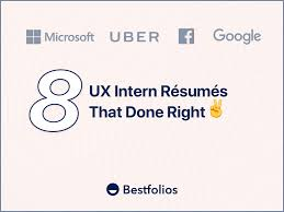 Resumes With Picture 8 Ux Intern Resumes That Done Right Bestfolios Medium