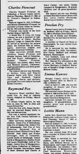 raymond fox obit Brown County Democrat (Nashville, Indiana) 23 Mar 1983,  Wed Page 2 - Newspapers.com