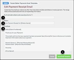 Receipt Email Template How Edit A Payment Receipt Email Template Rocket Matter