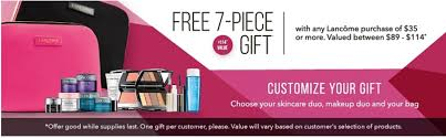 estee lauder will offer a free gift with purchase at belk starting from march 29 lane also has a free 7 piece gift set at belk so be sure to stop by